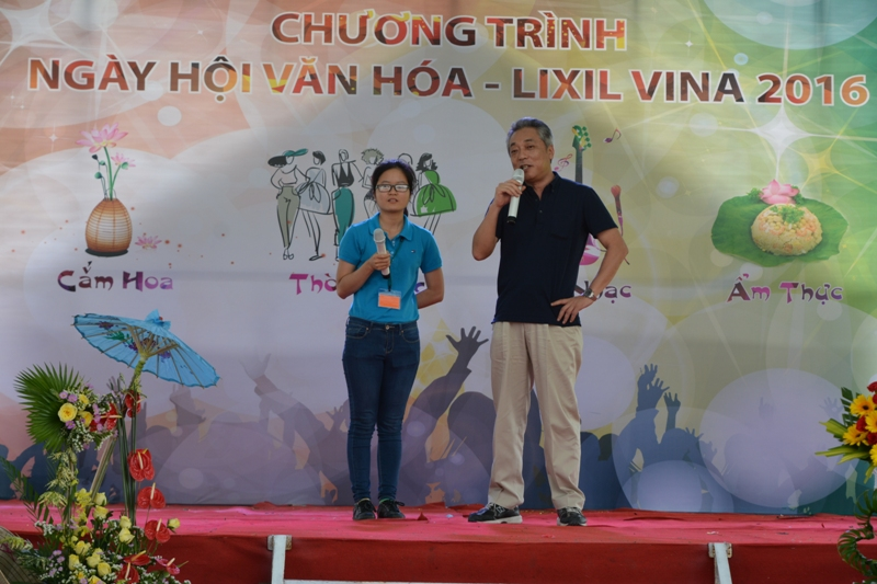 Tổng giám đốc phát biểu bế mạc chương trình Ngày hội văn hóa LIXIL VINA 2016